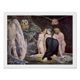 Willim Blake - Hecate; Night of Enitharmon's Joy Poster