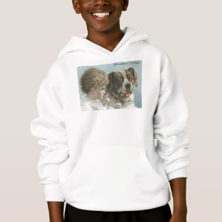 Willimantic Thread Little Girl with Dog Hoodie