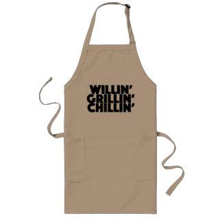 Willin', Grillin', Chillin' Long Apron