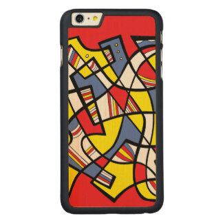 Willing Amusing Bright Keen Carved Maple iPhone 6 Plus Case