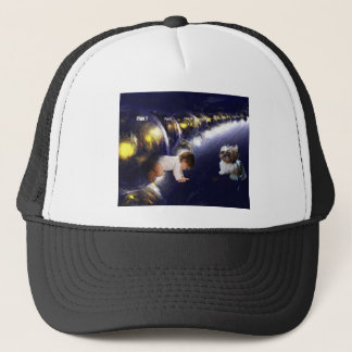 willing to let go of life we've planned trucker hat