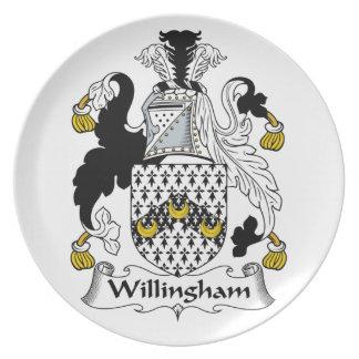 Willingham Family Crest Dinner Plate