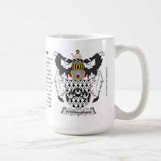 Willingham, the Origin, the Meaning and the Crest Classic White Coffee Mug