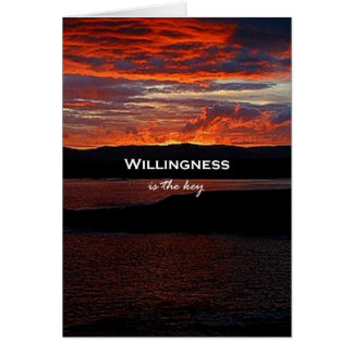 Willingness Is The Key Card