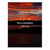 Willingness Is The Key Postcard