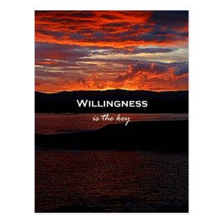 Willingness Is The Key Post Cards