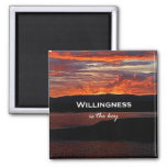 Willingness Is The Key Refrigerator Magnet