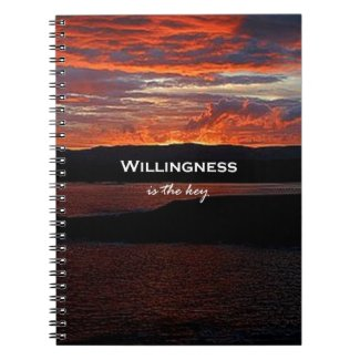 Willingness Is The Key Spiral Notebook