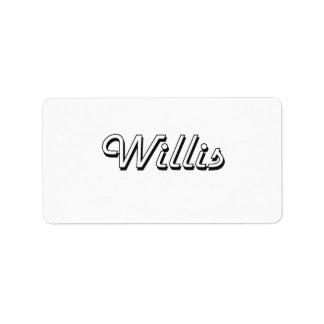 Willis Classic Retro Name Design Address Label