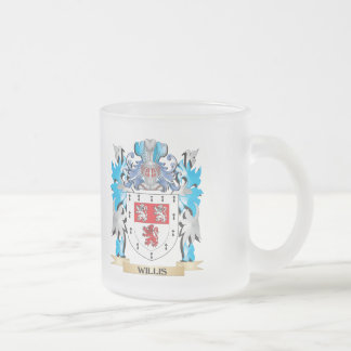 Willis Coat of Arms - Family Crest 10 Oz Frosted Glass Coffee Mug