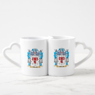 Willis Coat of Arms - Family Crest Couples' Coffee Mug Set