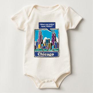 Willis Tower ears Baby Bodysuit