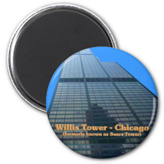 Willis Tower - Formerly Known As The Sears Tower 2 Inch Round Magnet