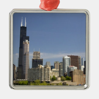 Willis Tower formerly known as the Sears Tower Metal Ornament