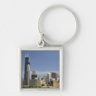 Willis Tower formerly known as the Sears Tower Silver-Colored Square Keychain