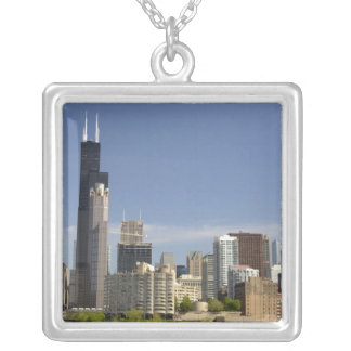 Willis Tower formerly known as the Sears Tower Silver Plated Necklace
