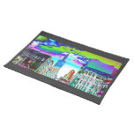 Willis Tower in Colored Foil Place Mats