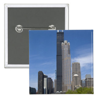 Willis Tower (previously the Sears Tower) looms Pins