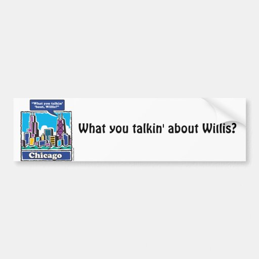 Willis Tower/Sears Tower Car Bumper Sticker