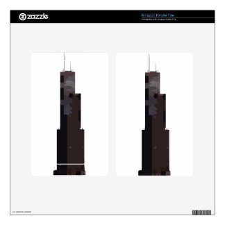 Willis Tower (Sears Tower) Decals For Kindle Fire