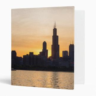 Willis Tower Sunset Sihouette Binder