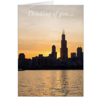 Willis Tower Sunset Sihouette Card