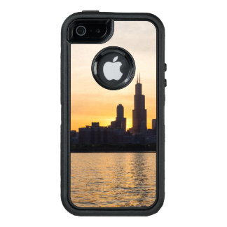 Willis Tower Sunset Sihouette OtterBox Defender iPhone Case