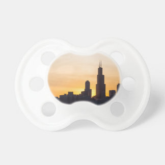Willis Tower Sunset Sihouette Pacifier