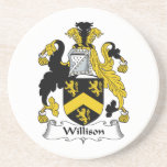 Willison Family Crest Beverage Coasters