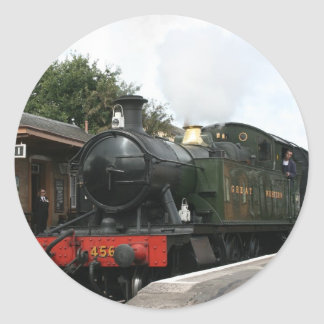 Williton station, West Somerset Railway, UK Classic Round Sticker
