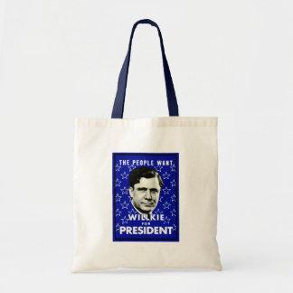 WIllkie 1940 para el presidente Bolsa