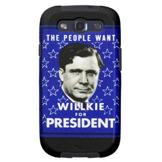 WIllkie 1940 para el presidente Galaxy S3 Cárcasa
