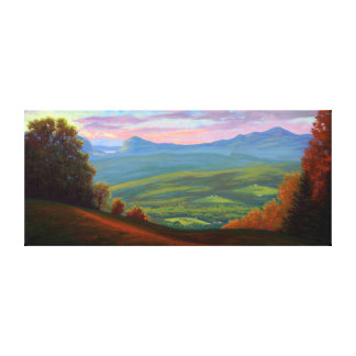 Willoughby Lake from Burke Mountain Canvas Print