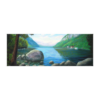 Willoughby Lake Westmore Vermont Oil Painting Canvas Print