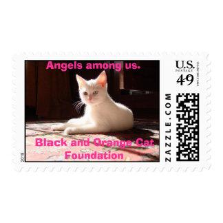 Willow3,Black and Orange Cat ... Stamp