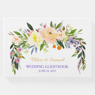 Willow and Floral Wedding Guest Book