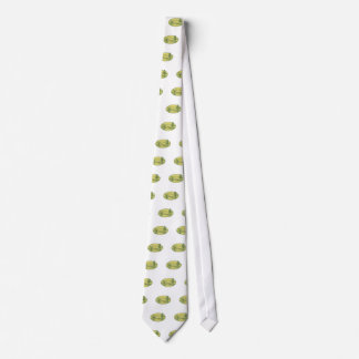 Willow And Sequoia Tree Lake Mountains Oval Drawin Tie