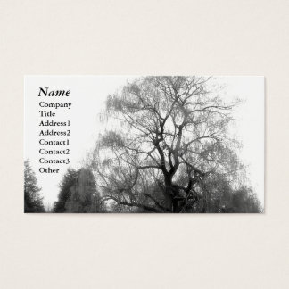 Willow Black&White - Business Cards