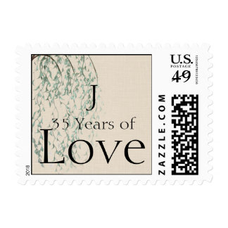 Willow Branch on Linen Anniversary Love Stamp