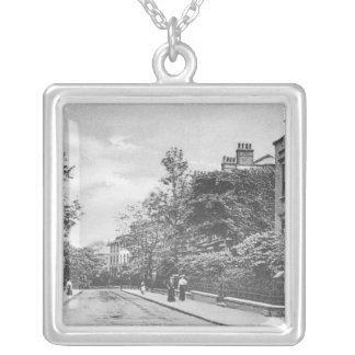 Willow Bridge Road, Canonbury, Islington, c.1905 Silver Plated Necklace