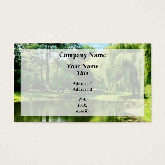 Willow By the Lake Business Card