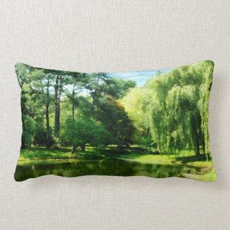 Willow By the Lake Lumbar Pillow