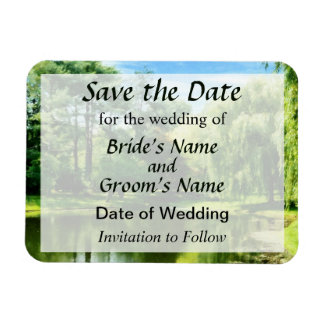 Willow by the Lake Save the Date Magnet
