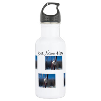 Willow Catkin Close-Up; Customizable 18oz Water Bottle