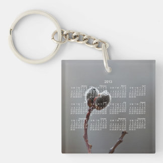 Willow Catkins After Spring Rain; 2013 Calendar Keychain
