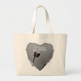 Willow Catkins After Spring Rain; Customizable Tote Bag