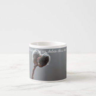 Willow Catkins After Spring Rain; Customizable Espresso Cup