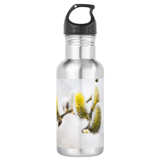Willow Catkins - Silver World Stainless Steel Water Bottle