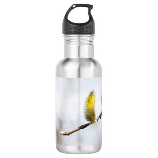 Willow Catkins - Silver World Water Bottle