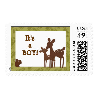 Willow Deer Baby and Mommy Kiss Postage